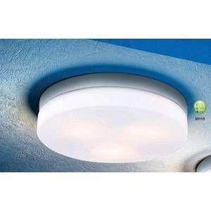 Image de Globo Lighting Plafonnier Globo VRANOS Argenté, Acier inoxydable, Blanc, 3 lumières - Moderne/Design - Extérieur - VRANOS