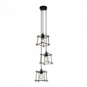 Lucide Lampe suspendue salon Edgar L17 cm - Noir