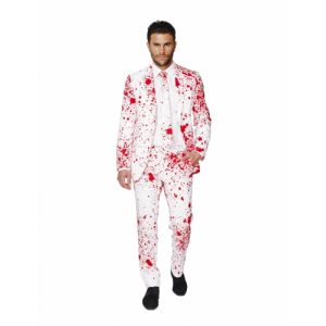 Costume Halloween blanc ensaglanté homme opposuits