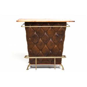 Kare Design Lucky - Bar rock vintage capitonné en bois et velours