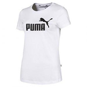 Puma T-Shirt Essential pour Femme, Blanc, Taille S |