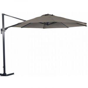 Proloisirs Parasol déporté en aluminium 350 cm Vita - Taupe