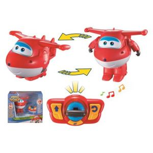 Auldey Super Wings Figurine Jett véhicule transformable et dansant