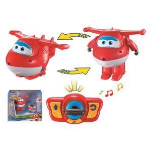 Auldey Super Wings Figurine Jett véhicule transformable et dansant
