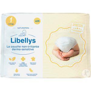 Naturopera Libellys Couche Non-Irritante Dermo-Sensitive 2-5kg Taille 1