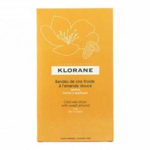 Klorane Bandes de cire froide à l'amande douce jambes (6 bandes)