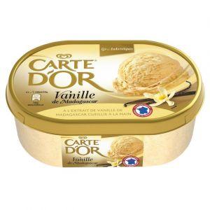 Carte d'or Crème glacée, vanille à l'extrait de gousses de Madagascar - Le bac de 1L