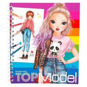 Depesche Top Model - Album de coloriage Arc en ciel