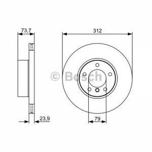 Bosch 1 Disque de frein 0986479381