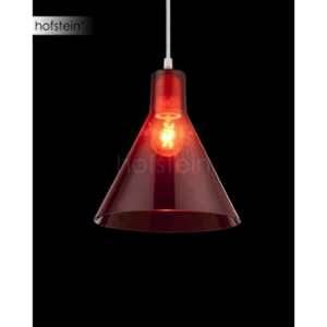 Globo Lighting GLOBO Suspension acrylique L21,5 x l21,5 x h113 cm - Rouge - Suspension chrome - acrylique rouge - A:215 - H:1130 - Ampoule non incluse - 1xE27 60W 230V