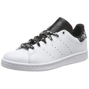 Adidas Stan Smith J -CG6562 -Chaussures de Gymnastique Mixte Enfant -Blanc (Ftwr White/Ftwr White/Core Black Ftwr White/Ftwr White/Core Black)-36 2/3 EU