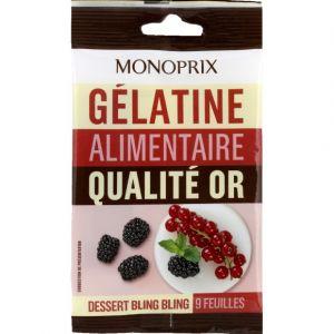 Monoprix Gélatine alimentaire qualité or