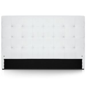 tete lit cuir blanc comparer 621 offres. Black Bedroom Furniture Sets. Home Design Ideas