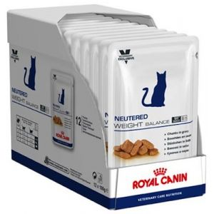 Royal Canin Repas Veterinary Diet Chat Neutered Weight Balance - 12 sachets de 100g