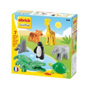 Ecoiffier Briques de construction Abrick : animaux du zoo