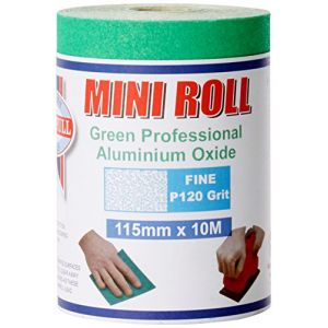Faithfull AR10120G Aluminium Oxide Paper Roll 115mm x 10m 120g - Green