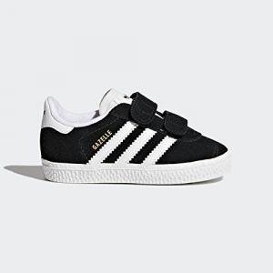Adidas Gazelle CF I, Chaussons Mixte bébé, Noir (Negbas/Ftwbla 000), 21 EU