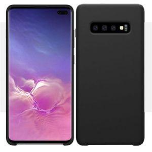 Ibroz Coque Samsung S10+ Liquid Silicone noir