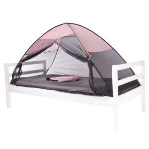 Deryan Tente-lit avec moustiquaire escamotable 200x90x110 cm Rose