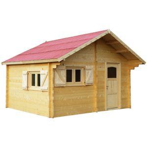 Foresta Cozy CZ 5040.02 - Abri de jardin semi-habitable en bois 60 mm 17,22 m2 (montage inclus)