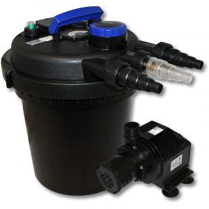 wiltec Kit de Filtration à Pression Bio 6000l Stérilisateur UVC 11W Pompe de Bassin