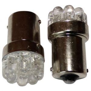 Aerzetix : 2x ampoule 24V P21W R10W R5W 9LED blanc pour camion semi-remorque porte de garage portail