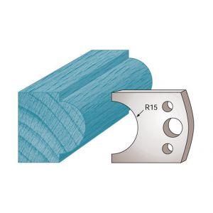 Diamwood Platinum Jeu de 2 fers profilés Ht. 40 x 4 mm mouton M66 pour porte-outils de toupie