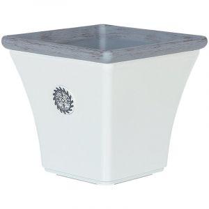 Beliani Cache-pot blanc 43 x 43 x 39 cm ELATEIA