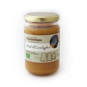 Famille Perronneau Miel d'eucalyptus bio dans pot en verre de 375 g