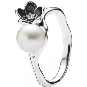 Pandora 190924P - Bague Fleur et Perle Mystiques pour femme