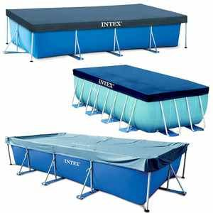 Intex 07432 Bâche piscine rectangulaire bleu 4,50 m