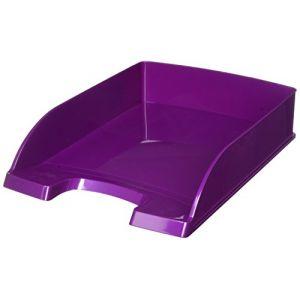 Leitz 5226-30-62 - Corbeille à courrier Plus Wow A4, en polystyrène choc, violet