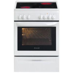 Brandt KVC1340W - Cuisinière vitrocéramique 4 foyers avec four électrique