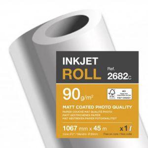 Clairefontaine Rouleau à papier 1.06x45 metres 90 grammes jet encre