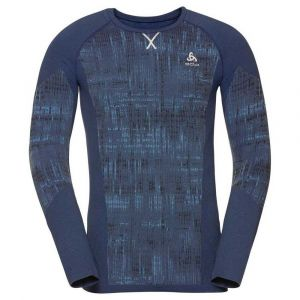 Odlo Top Crew Neck L/s Blackcomb L Estate Blue - Estate Blue - Taille L