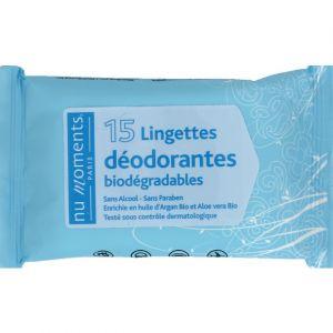 Nu moments Lingettes déodorantes biodégradables