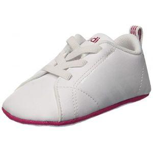 Adidas Vs Advantage Crib, Sneakers Basses Mixte bébé, Blanc Footwear White/Bold Pink, 19 EU