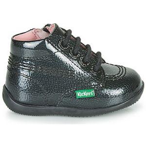 Kickers Boots enfant BILLISTA ZIP Noir - Taille 18,19,20,21,22,23,24