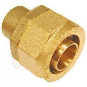 Banides et Debeaurain Raccord pour tube PE BD6222 à braser sur cuivre : 15 DN : cal. 15 diamètre : PE 20