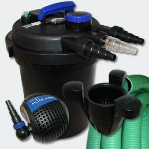 Kit de Filtration à Pression 6000l UVC 11W Pompe Tuyau Ec eur 40