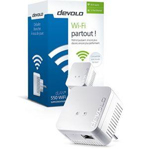 Devolo 9625 - Adaptateur CPL dLAN 550 WiFi sans prise gigogne