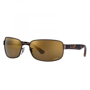 4fd6104129691b Image de Ray-Ban Rb3566 chromance Homme Sunglasses Verres  Marron  Polarisés, Monture