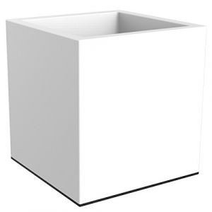 Elho Jardinière carrée Vivo Square Wheels Blanc