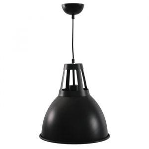 SAFARI Suspension en métal Style industriel Ø 30 x H 120 cm Noir mat E27 60 W