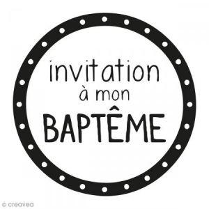 Artémio Tampon clear stamp + bloc - Invitation à mon baptême