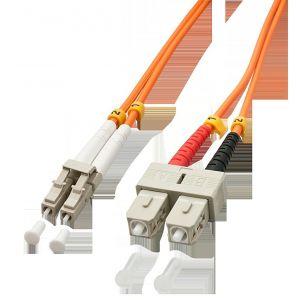 Lindy 46991 - Câble Ethernet Fibre optique Duplex LC/SC 2 m Orange