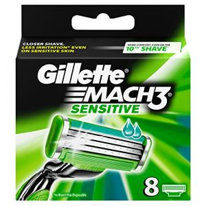 Gillette Mach3 Sensitive lames de rasoir - Pack de 8