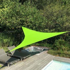 Alice's Garden Voile d'ombrage triangulaire extensible EASYWIND 3,6 x 3,6 x 3,6m - vert - Anti UV UPF 50+