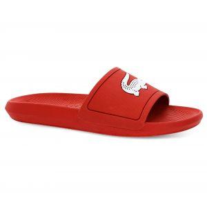 Lacoste Croco Slide 119 1 CMA, Sandales Bout Ouvert Homme, Rouge