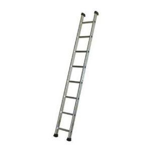 Escalux Echelle simple Aluminium semi-prof 8 marches Travail 3.21 m et 2.35m repliée